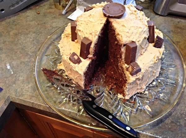 Cut and enjoy. I made my daughter Michelle's Favorite Chocolate Mayonnaise Cake with this...