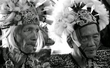 Photo: Elderly members of the Dayak tribe, East Borneo, Indonesia