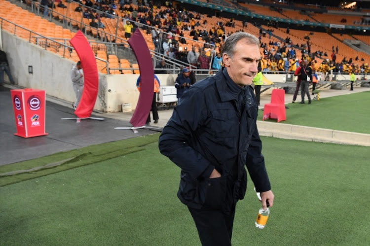 Kaizer Chiefs head coach Giovanni Solinas during the Absa Premiership match between Kaizer Chiefs and Bidvest Wits at FNB Stadium on August 07, 2018 in Johannesburg, South Africa.