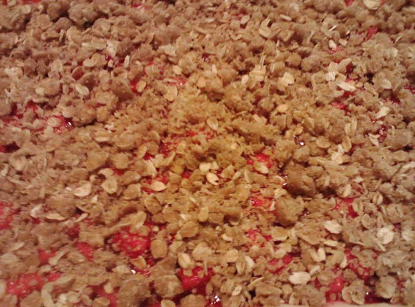 Assemble on top of crust. Spread fruit, then add crumble. Bake at 375 for 40 min. Let...