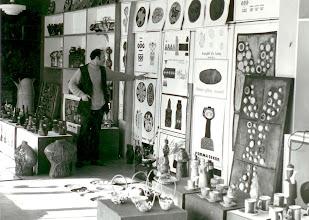 Photo: Eugeniusz Molski i wystawa ceramiki w internacie