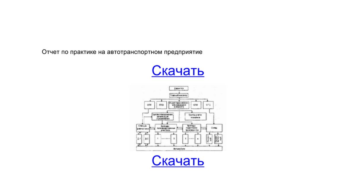 Отчет по практике на автотранспортном предприятие google docs