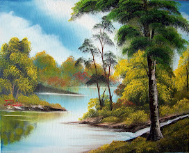 "Photo: 1104 Hidden Stream. Oil on canvas. Frame: no. 16"" x 20"" $249.00"