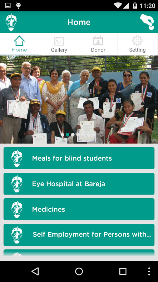 Blind People's Association- screenshot