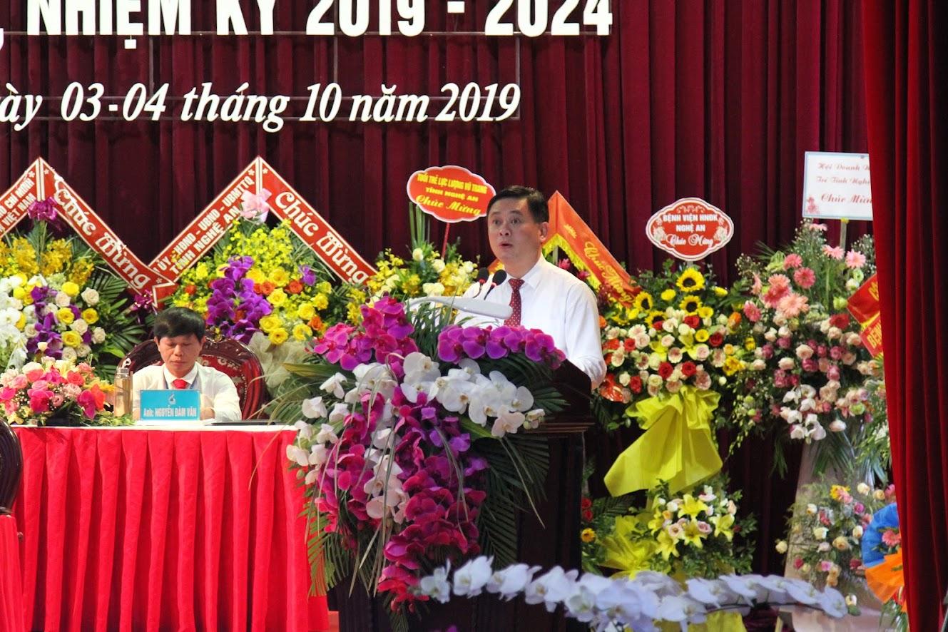 Chủ tịch UBND tỉnh Thái Thanh Quý phát biểu tại Đại hội