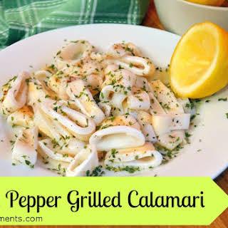 Lemon Pepper Grilled Calamari.