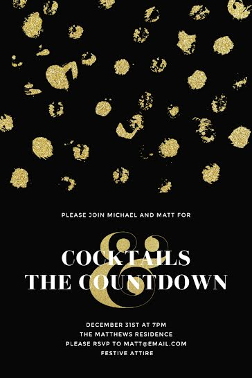 Cocktails & Countdown - New Year's template