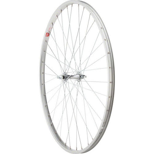 Sta-Tru Front Wheel 27 inch Silver Alloy Rim with Bolt-on Axle 36 Spokes