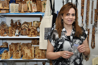 Photo: . . . visiting her shop: Holy Star Gifts. www.anastas-bethlehem.com