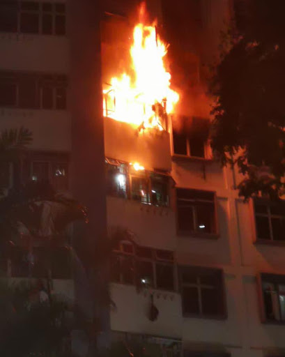 120 evacuated and 5 taken to hospital after North Bridge Road HDB fire