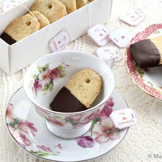 Earl Grey and Chocolate Shortbread Teabag Cookies.