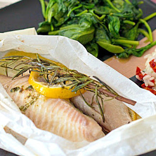 Baked Tilapia en Papillote (in parchment)