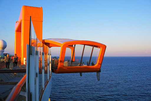 The multipurpose Magic Carpet is a cantilevered deck extending off the side of Celebrity Edge.