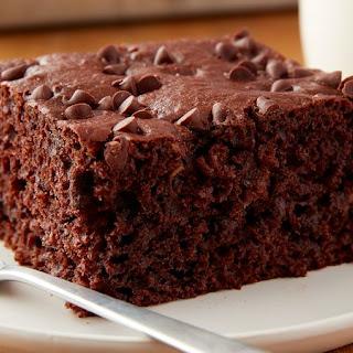 Easy Chocolate-Banana Snack Cake.