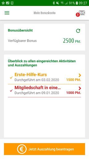 AOK Bonus-App screenshot 2