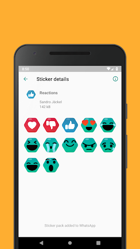 Emoticons Sticker Pack for WhatsApp 0.2.10 screenshots 7