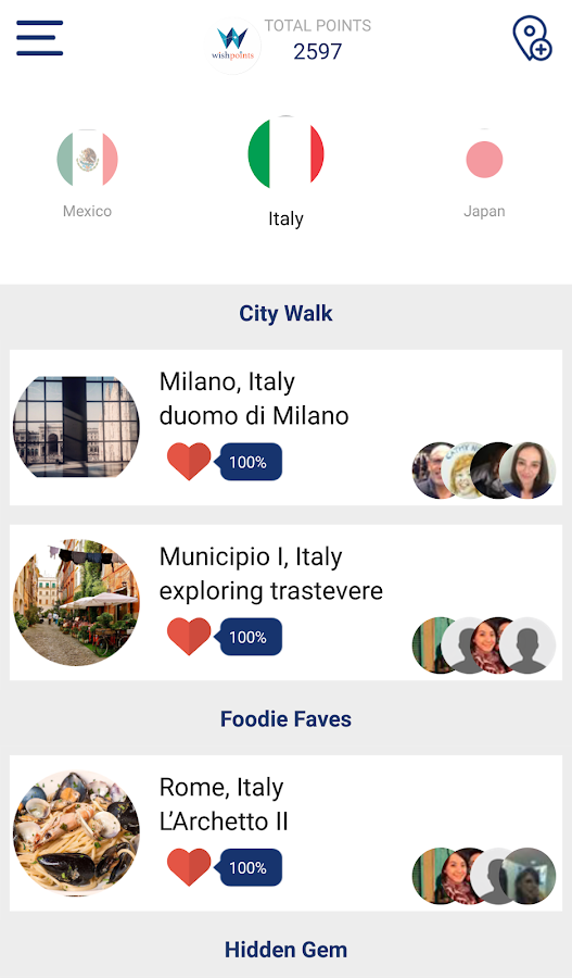 WishPoints for Social Travel- screenshot