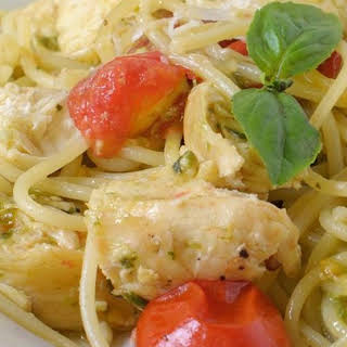 Pesto Pasta with Chicken.