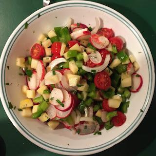 Radish Salad With Summer Squash