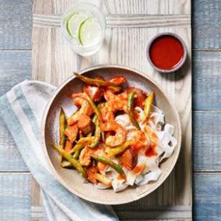 Green Bean, Eggplant & Shrimp Stir-Fry