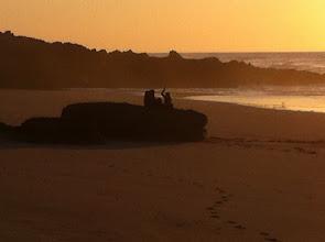 Photo: Girl talk at sunset