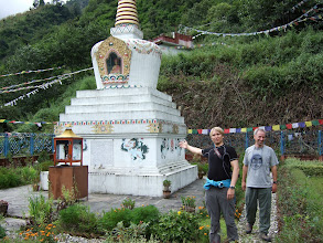 Photo: Temple above Kodari with Samuli and Gary