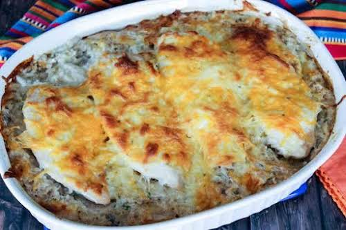 "Spicy Cheesy Chicken Bake ""This cheesy goodness is a great twist on..."