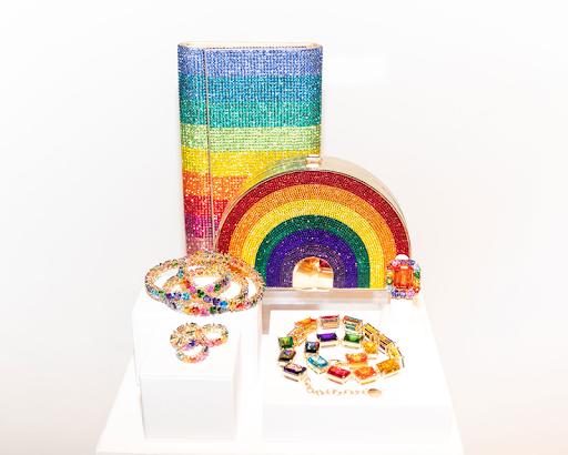 Judith Leiber handbags and jewelry