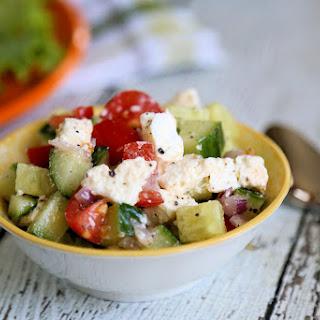 Easy Cucumber Feta Salad