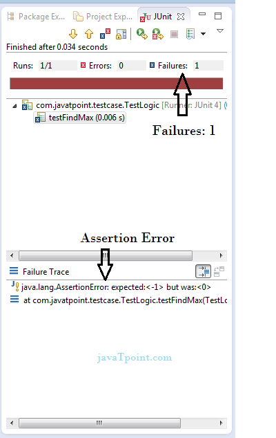 junit example in eclipse with output