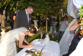 """Photo: Таня и Росен казаха своето """"Да"""" с изнесен ритуал в ресторант градината на Вила Марциана до Варна"""
