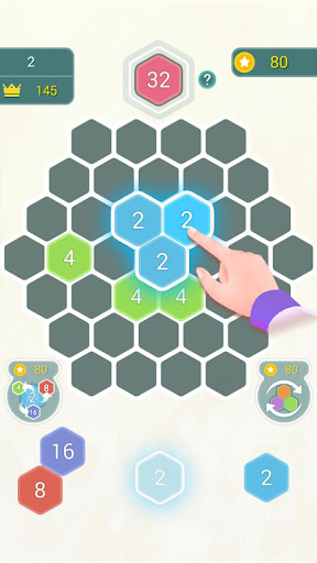 HexPop:Make number to 2048,Free Merge Puzzleu00a0Games apktram screenshots 2