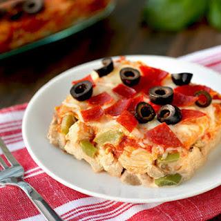 Pizza-fied Chicken Casserole.