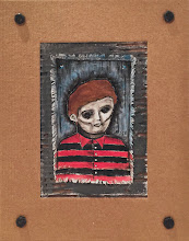 "Photo: Black Eyed Kid.  9/11"" mixed medium. Signed and sealed.  ©Marisol McKee"