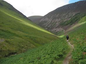 Photo: We enter a narrow valley ...