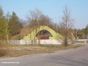 Photo: Schronohangar wykorzystywany jako magzyn soli drogowej przez GDDKiA