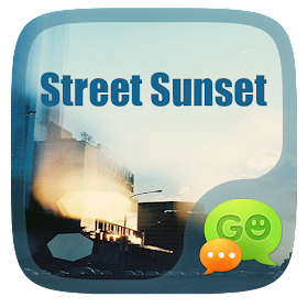 GO SMS STREET SUNSET THEME