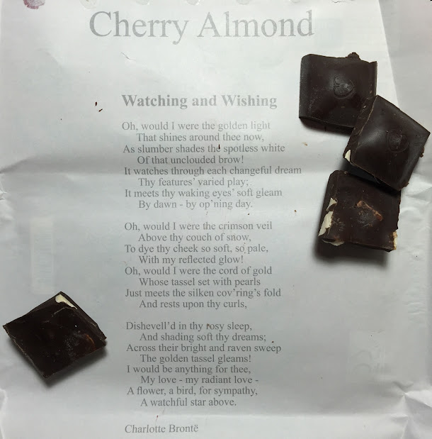 cherries-n-almonds chocolove bar open