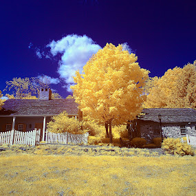 Old Town by Angel Escalante - City,  Street & Park  Vistas ( ir, piscataway, towns, villages, ir photography, landscapes, nj )