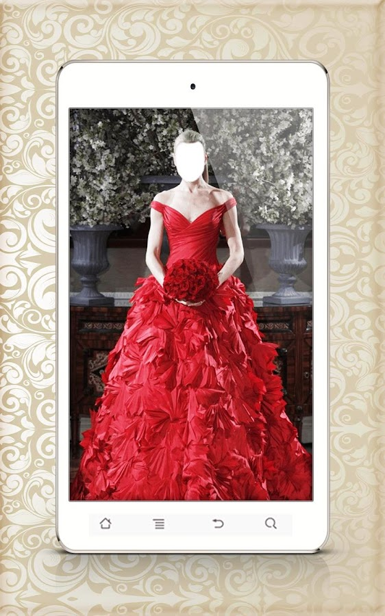 Wedding dress photo montage android apps on google play for Design your own wedding dress app