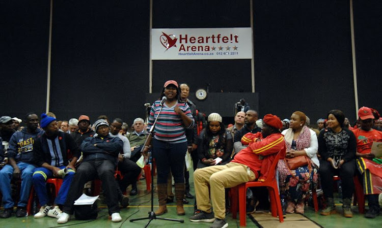 Community members of Pretoria during the Tshwane metro public hearing on land redistribution at Heartfelt Arena Hall Pretoria on July 28, 2018.