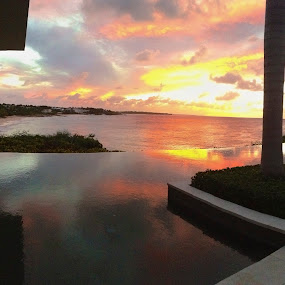 Viceroy sunset in Anguilla by Jennifer Lamanca Kaufman - Instagram & Mobile iPhone ( anguilla, sunset, viceroy, caribbean )