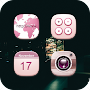 Pink Flowerdance Whisper Icon Pack APK icon