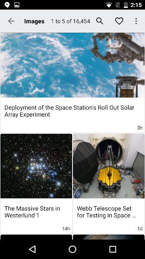 Screenshot 1 for NASA.gov's Android app'