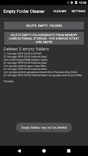 Empty Folder Cleaner Screenshot