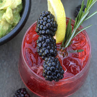 Blackberry Lemonade Vodka Cooler.