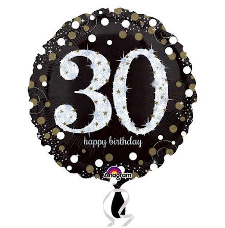 Folieballong Sparkling birthday 30