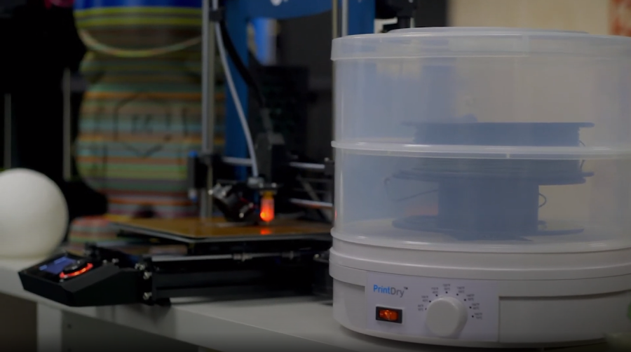 Of all the different solutions for removing moisture from filament, using a PrintDry has to be the easiest solution available.