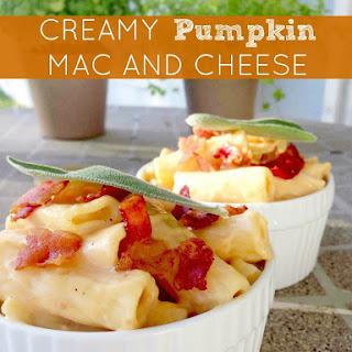 National Pumpkin Day | Creamy Pumpkin Mac and Cheese