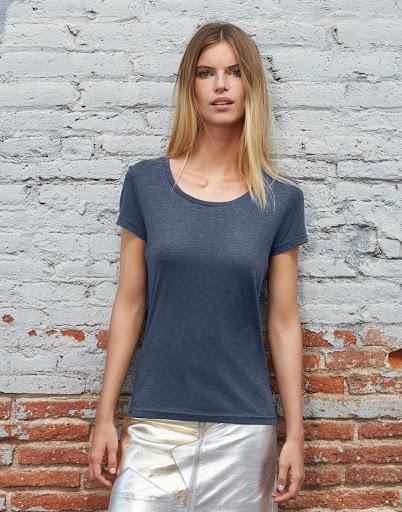 B&C Triblend T-shirts Women's (Heather Navy)